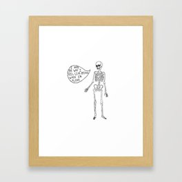Joyce Manor Skeleton Framed Art Print