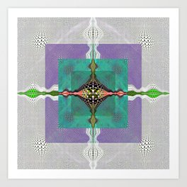 Sacred Healing Resonant Mandala Art Print