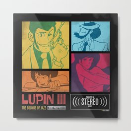 Lupin III Jazz Record Metal Print