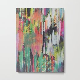 Painted Glitch  Metal Print