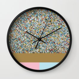 Square Mosaic Multi-coloured Tile Pattern (Photograph) Wall Clock