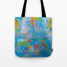 Colorful Abstract Wall Art, Vibrant colors, Contemporary home decor Tote Bag