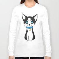 husky Long Sleeve T-shirts featuring Husky by Freeminds