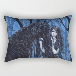 Midnight Travelers Gothic Fairy and Unicorn Rectangular Pillow