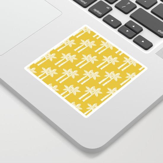 Palm Tree Pattern Mustard Yellow by tonymagner