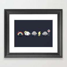 There's always rainbow after the rain Framed Art Print
