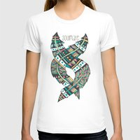 feathers T-shirts featuring Soulmate Feathers by Pom Graphic Design
