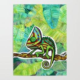 Chamaleon Pattern Poster