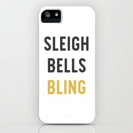 Sleigh Bells Bling Christmas Design iPhone Case