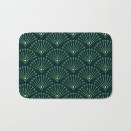 Vintage Art Deco pattern- Green dot dot dot Bath Mat