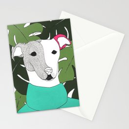 Mr.T and monstera Stationery Cards