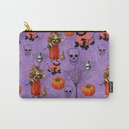 Vintage Halloween Pattern Carry-All Pouch