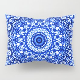 Blue Mandala Mehndi Style G403 Pillow Sham