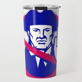 American Patriot Stop Sign Retro Travel Mug