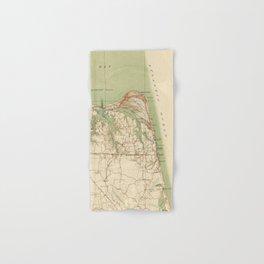 Vintage Map of Virginia Beach & Cape Henry (1918) Hand & Bath Towel