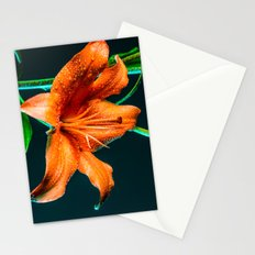 Lily Flower Dew Stationery Cards
