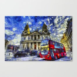 Vincent Van Gogh London Canvas Print