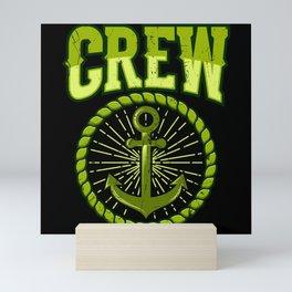 SAILING CREW RETRO SAILING CREW Gift Sailor Mini Art Print