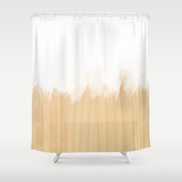 Scandinavian White Shower Curtain