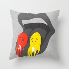Melts in your mouth Throw Pillow