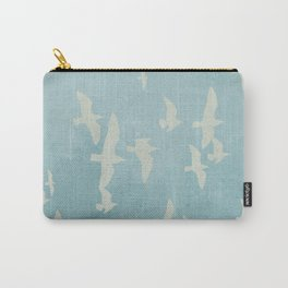 Birds on Blue - flying seagulls Carry-All Pouch