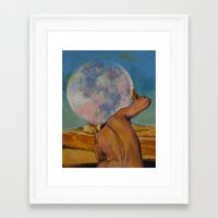 atlas Framed Art Prints featuring Atlas by Michael Creese