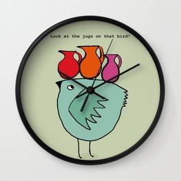 Jugs Wall Clock