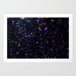 Abstract Purple Wallpaper Art Print