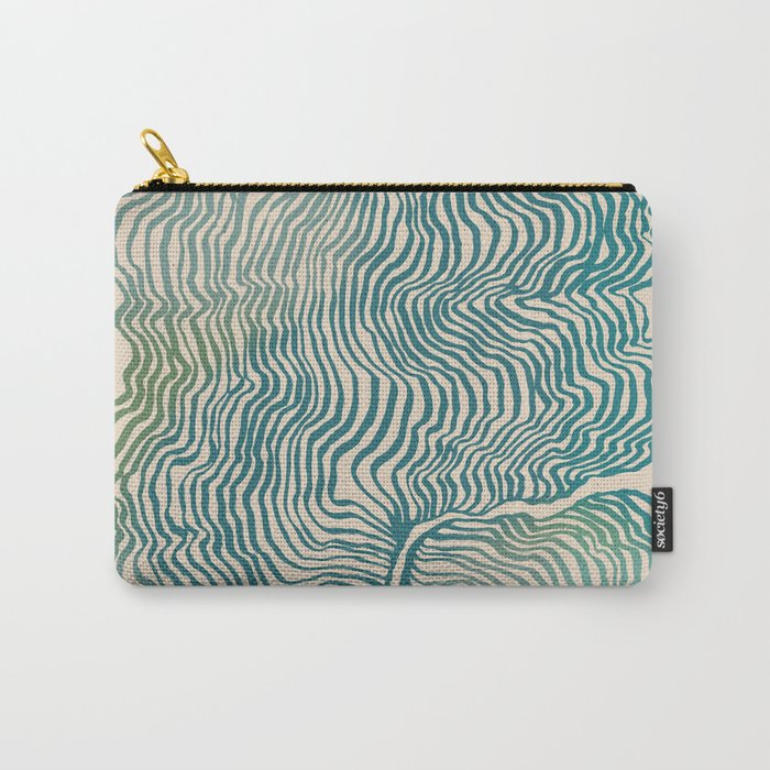 Summer Currents Carry-All Pouch