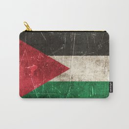 Vintage Aged and Scratched Palestinian Flag Carry-All Pouch