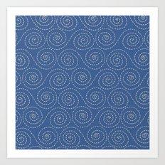 Sea Swirls Art Print