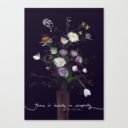 There's beauty in simplicity Canvas Print