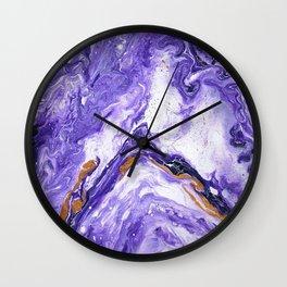 Chevron Amethyst 1 Wall Clock
