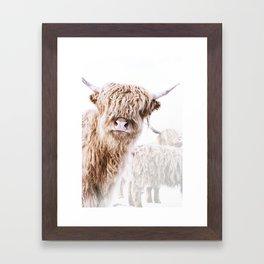 HIGHLAND CATTLE LULU Framed Art Print