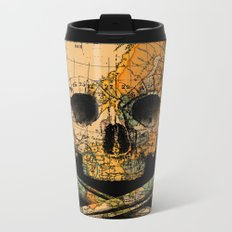 Treasure Map Skull Wanderlust Europe Metal Travel Mug