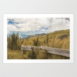 Trekking Road at Andes Range in Quito Ecuador  Art Print