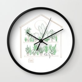Plants Family 2 House/Shop OPEN Wall Clock