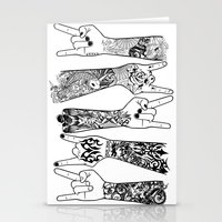 rock and roll Stationery Cards featuring rock & roll  by jun salazar