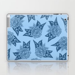 Cabbage Roses in Blue Laptop & iPad Skin