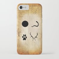 marauders iPhone & iPod Cases featuring The Marauders - Moony, Wormtail, Padfoot and Prongs by Renatta Maniski-Luke
