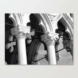 Flower details and arches of the Doges Palace Canvas Print