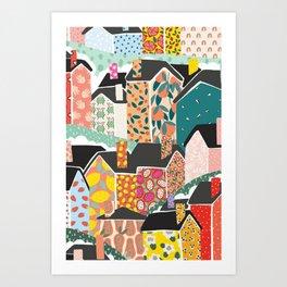 The Village Canvas Print Art Print