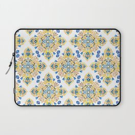 Wheat field with cornflower - mandala pattern Laptop Sleeve