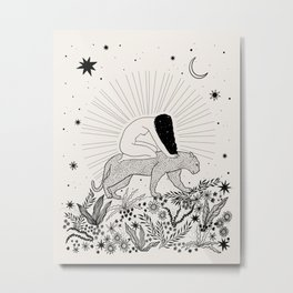 Riding Through The Magic Metal Print
