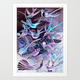 Ode to Haeckel's Hummingbirds Art Print