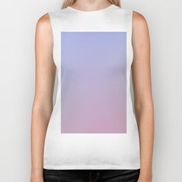 LAVENDER - Minimal Plain Soft Mood Color Blend Prints Biker Tank
