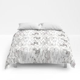 b&w runway Comforters