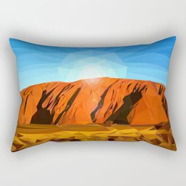 Uluru the Mighty Dreamer - Ayers Rock, Outback - Australia Rectangular Pillow