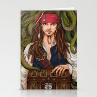 jack sparrow Stationery Cards featuring Jack Sparrow by sika-chan
