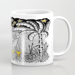 Beach Dancing under Stars Zentangle Style Coffee Mug